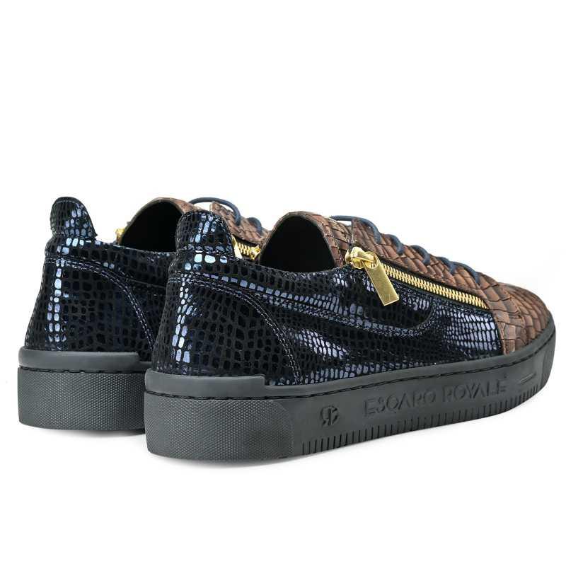 Hewitt Croc Textured Sneakers