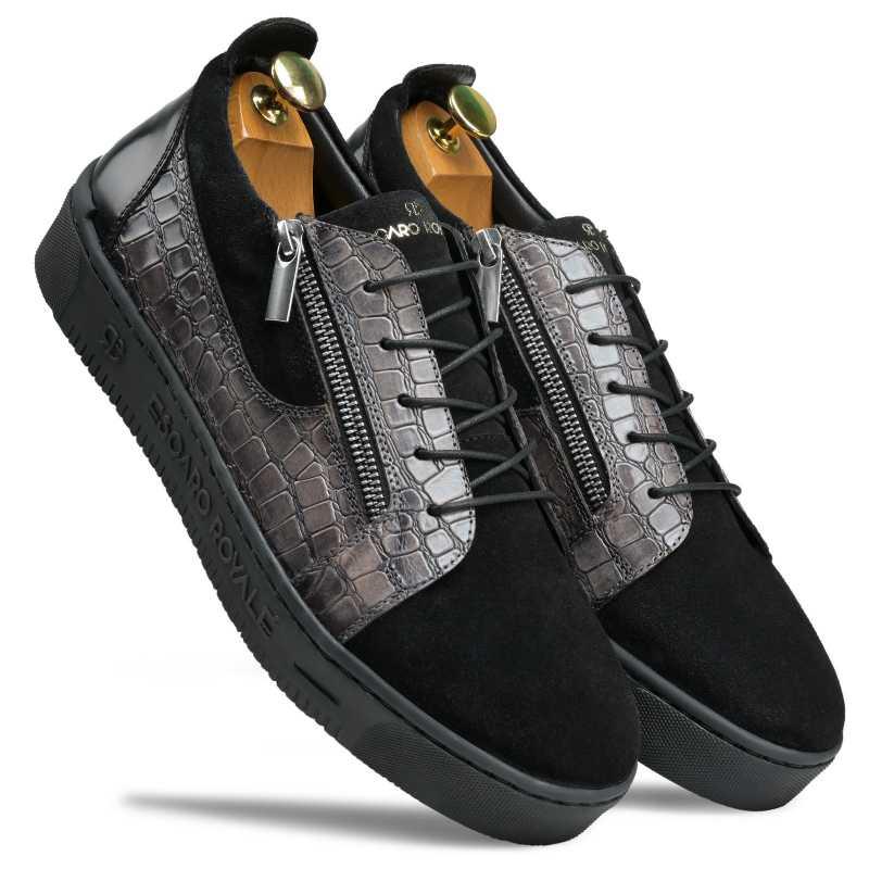 Houston Black Sneakers - Escaro Royale