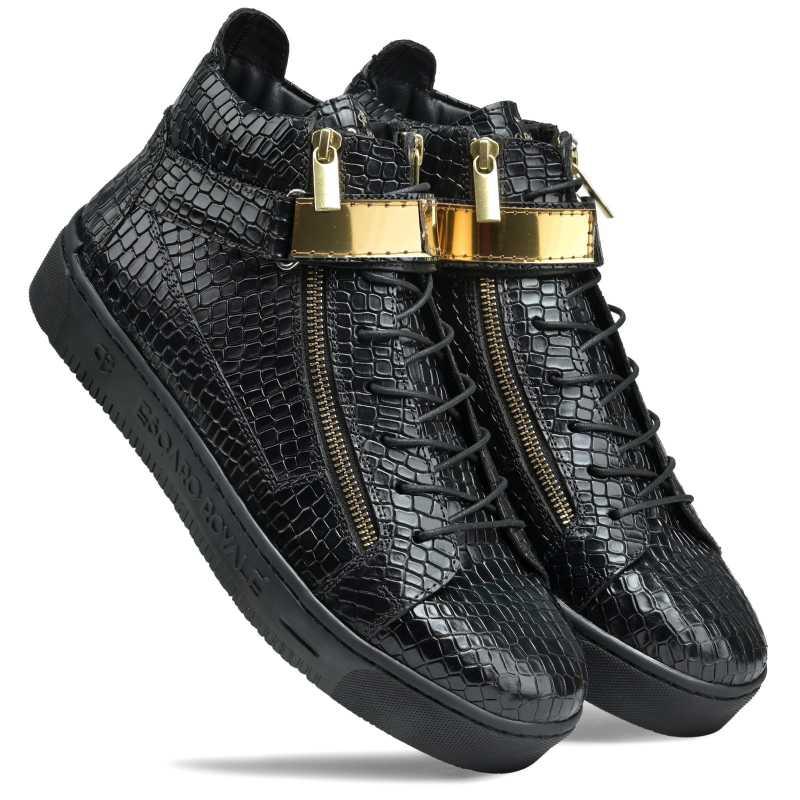 Goddard Leather Sneakers - Escaro Royale