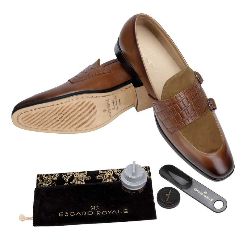 The Austin Double Monk Loafer In Tan