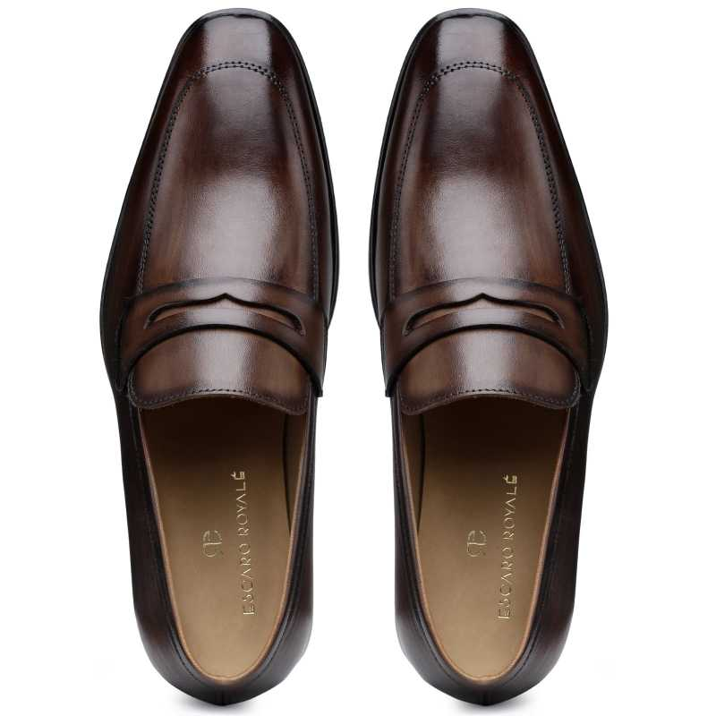 The Flint Penny Loafer In Brown