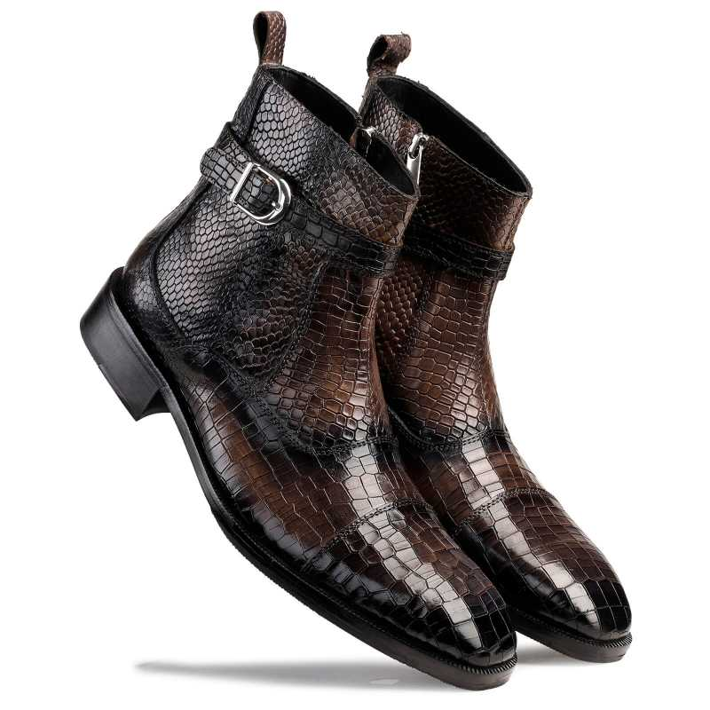 Noble Ankle Boots with Zipper in Grey - Escaro Royale