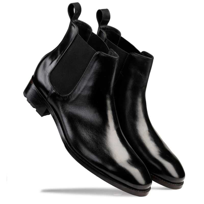 Goldbrow Chelsea Boots Black - Escaro Royale