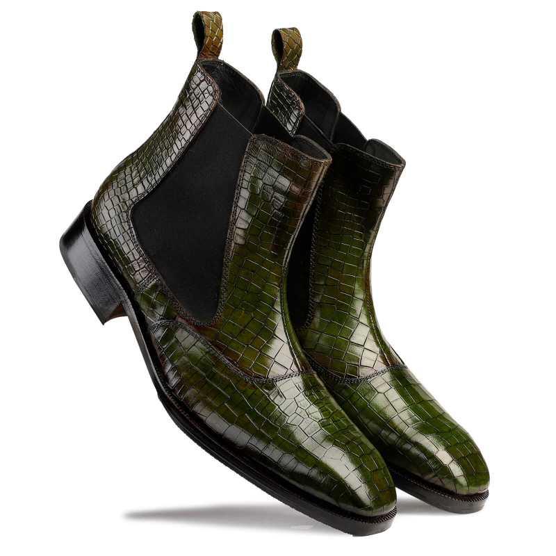 Regal Patina Chelsea Boots - Green - Escaro Royale