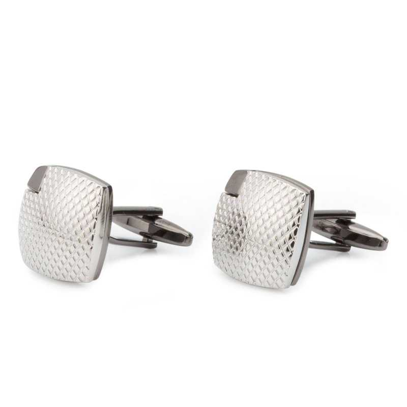 Men's Silver Plated Engraving Cufflinks - Escaro Royale