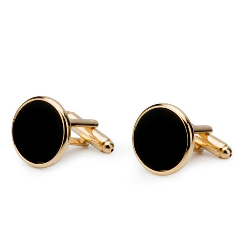 Men's Gold Plated Imitation Stone Cufflinks - Escaro Royale
