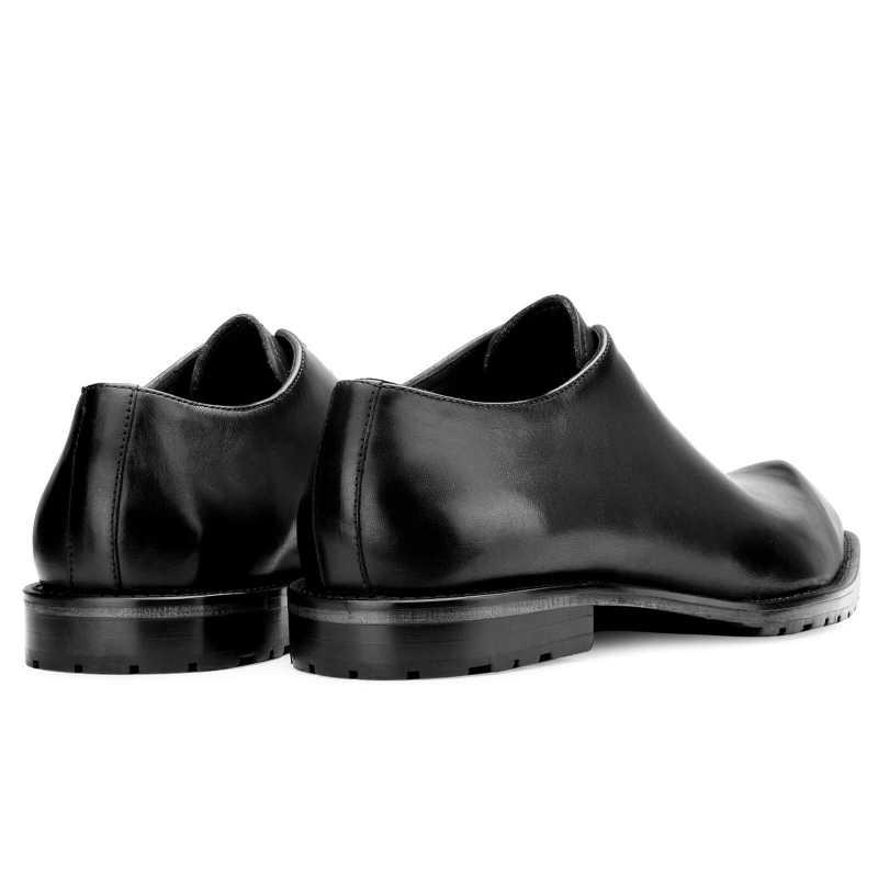 Connery Snip Toe Black Oxfords - Escaro Royale