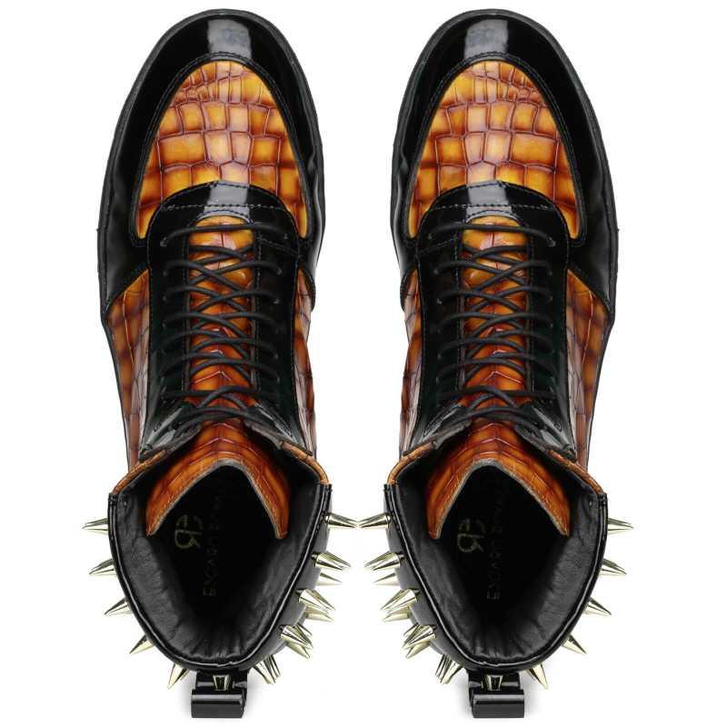 Monarcho Hightop Stud Sneakers