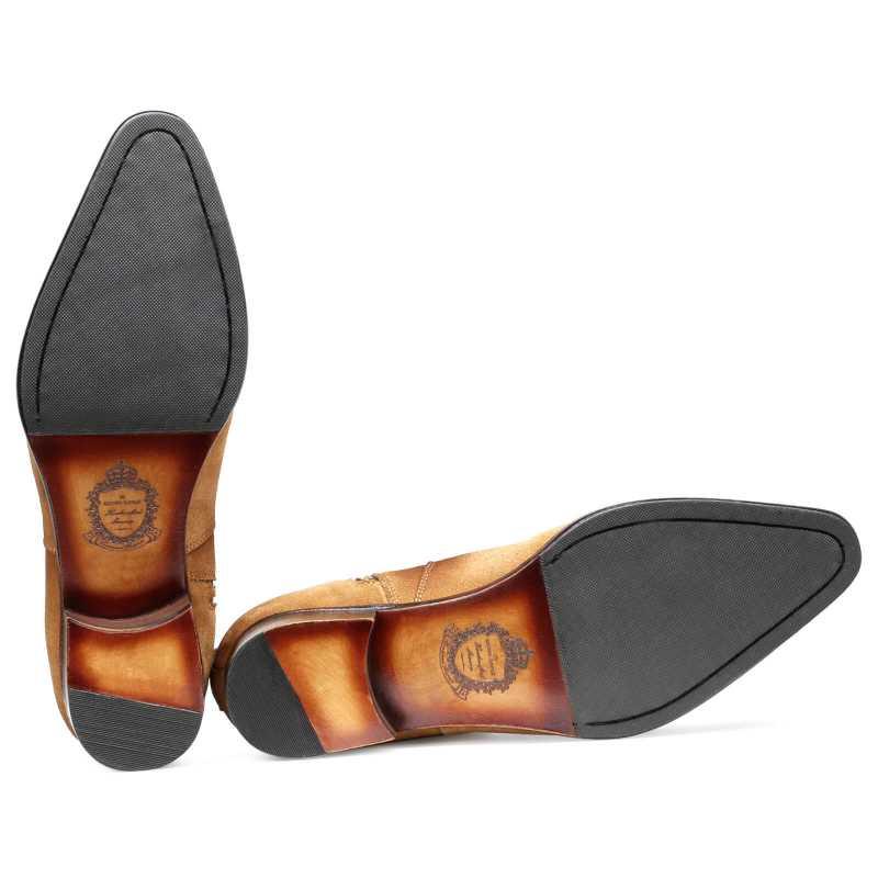 Carbine Suede Zipper Boots - Escaro Royale
