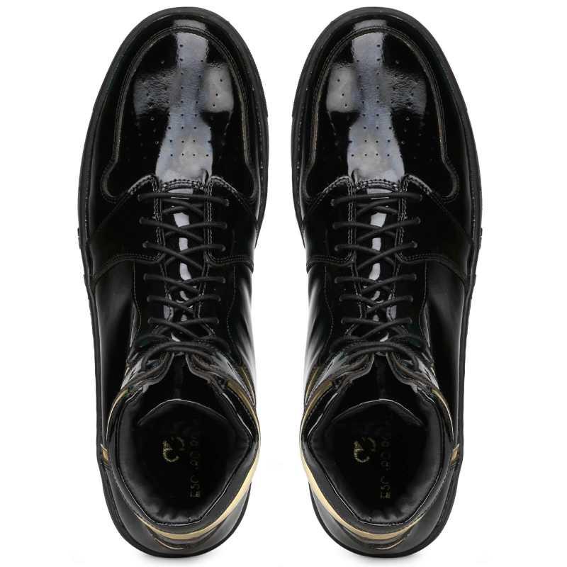 Kingston Black Gold Hightop Sneakers