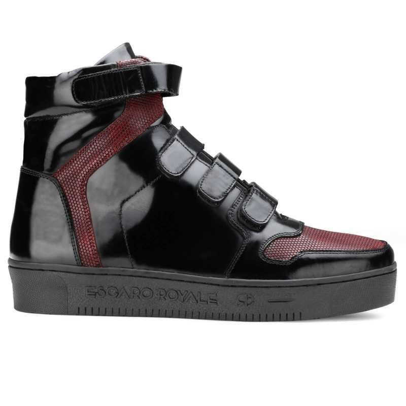 Triumph Black Hightop Sneakers - Escaro Royale