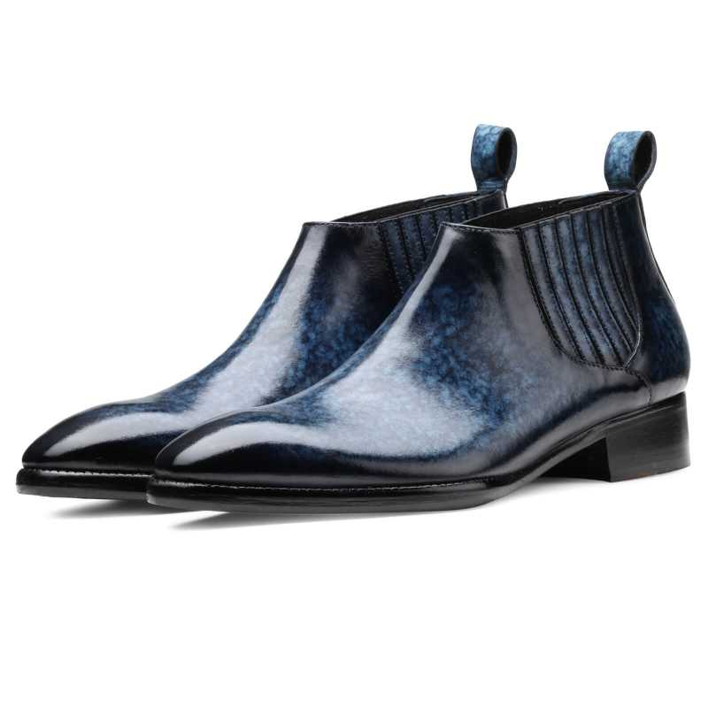 Arkle Chelsea Boots Blue - Escaro Royale