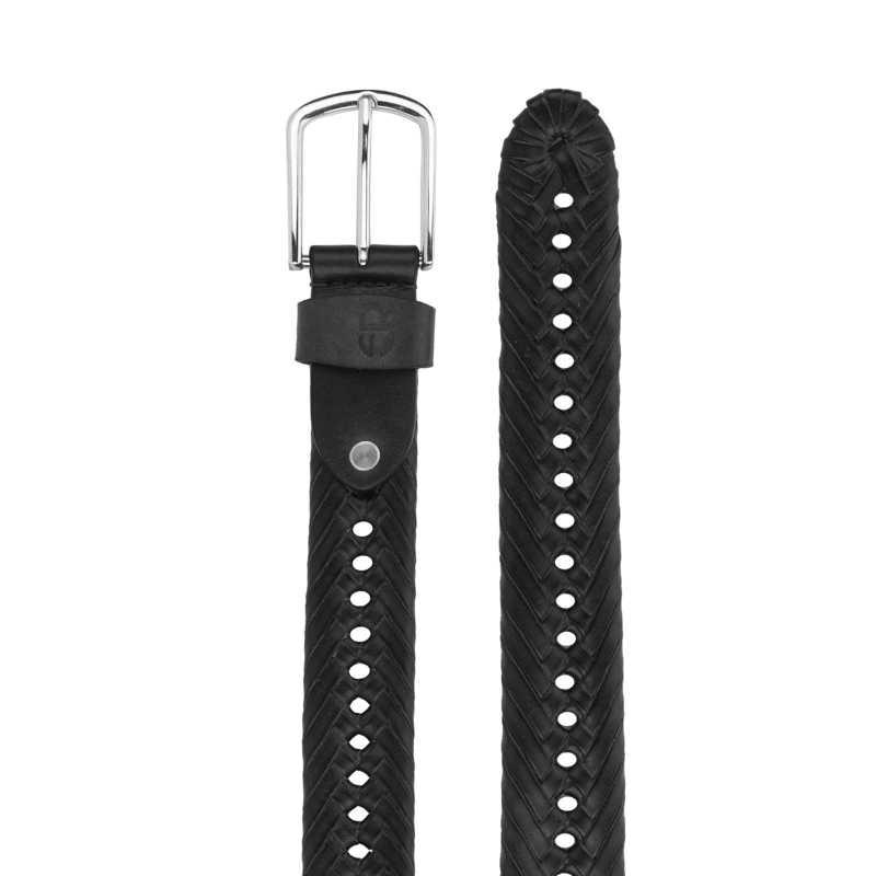 Kaleo Leather Braided Belt - Escaro Royale