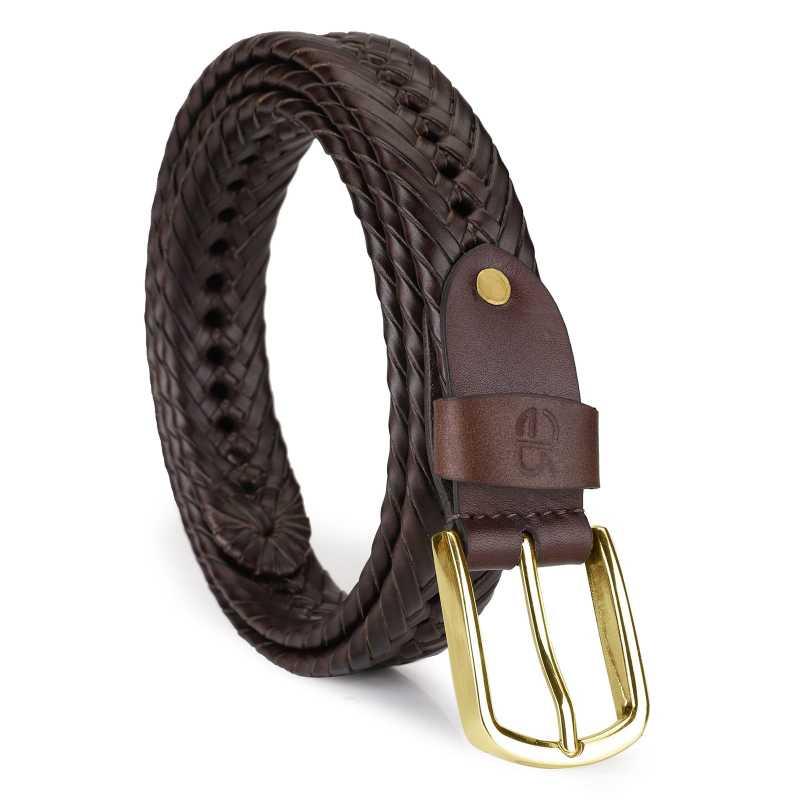 Hale Leather Braided Belt - Escaro Royale