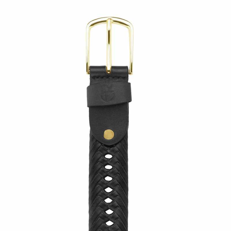 Kaia Leather Braided Belt - Escaro Royale