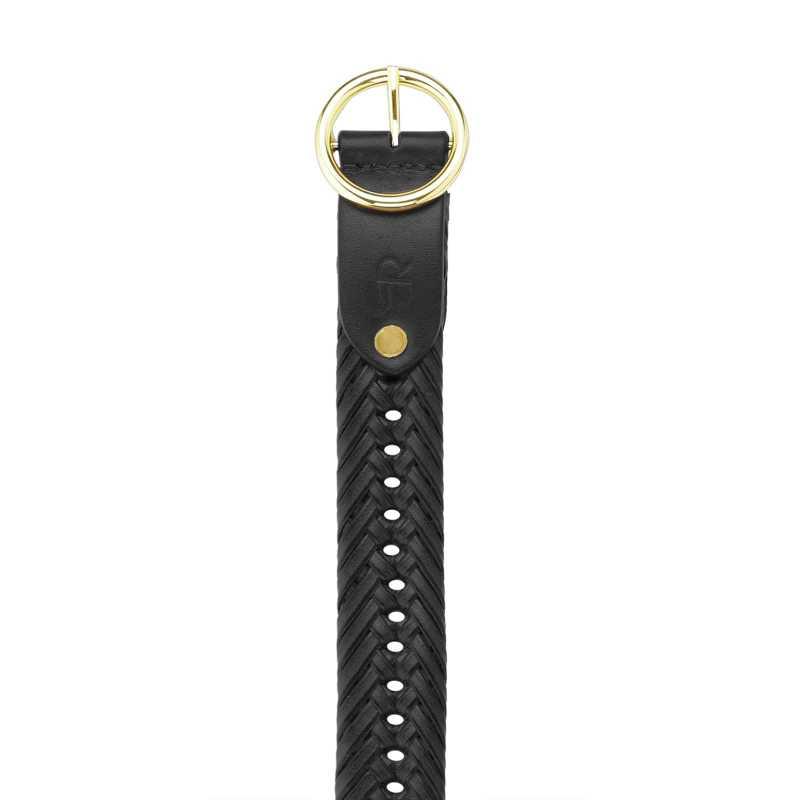 Kapono Leather Braided Belt - Escaro Royale