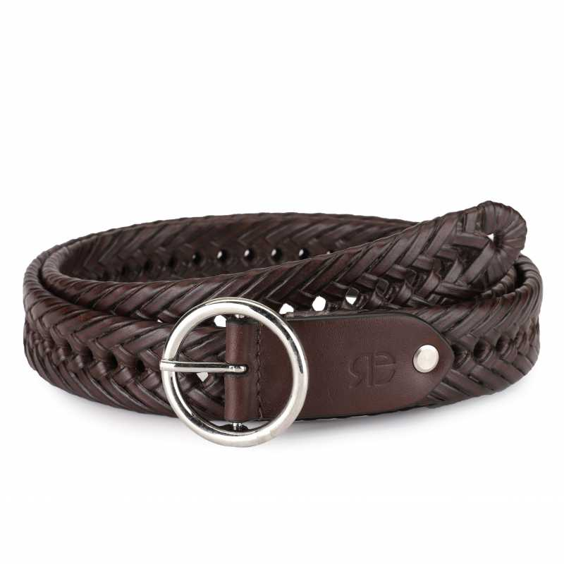 Topias Leather Braided Belt - Escaro Royale