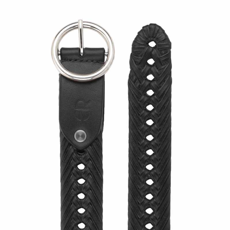 Santeri Leather Braided Belt - Escaro Royale
