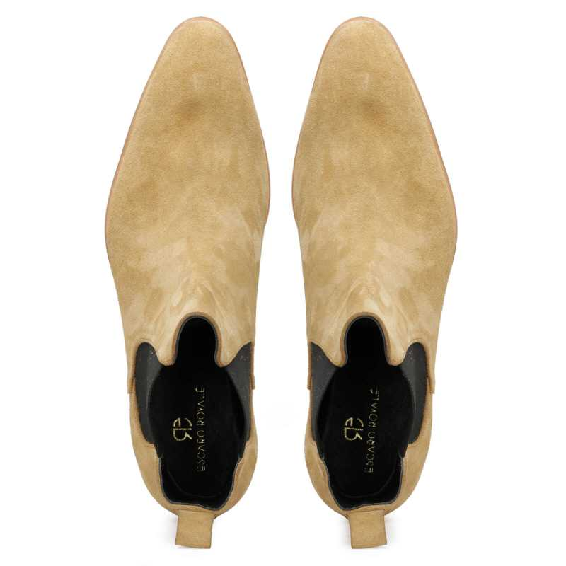 Iceman Chelsea Boots in Beige Suede - Escaro Royale
