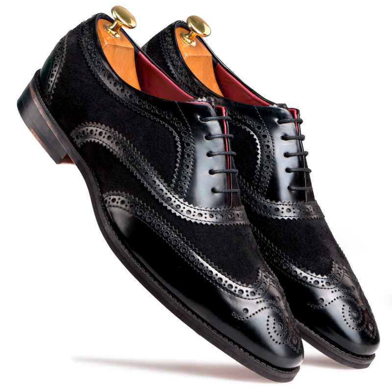 The London Brogues in Black