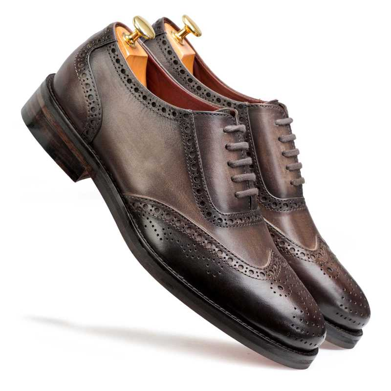 Don Vito Two-Tone Wingtip Brown Brogues