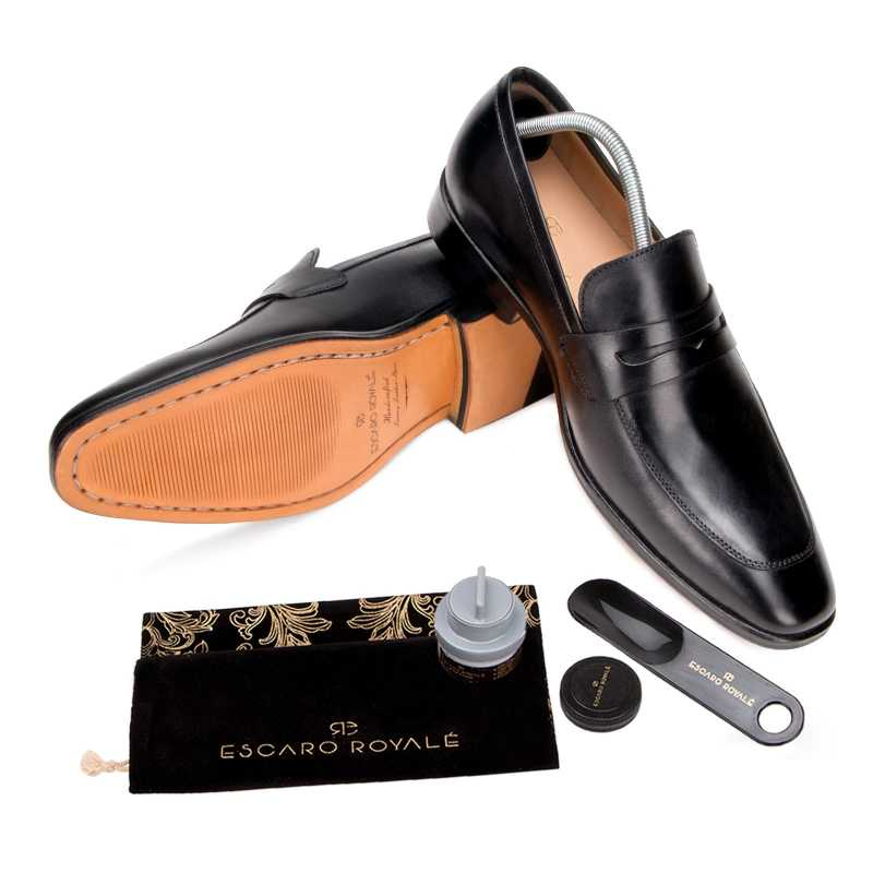 The Flint Penny Loafer In Black