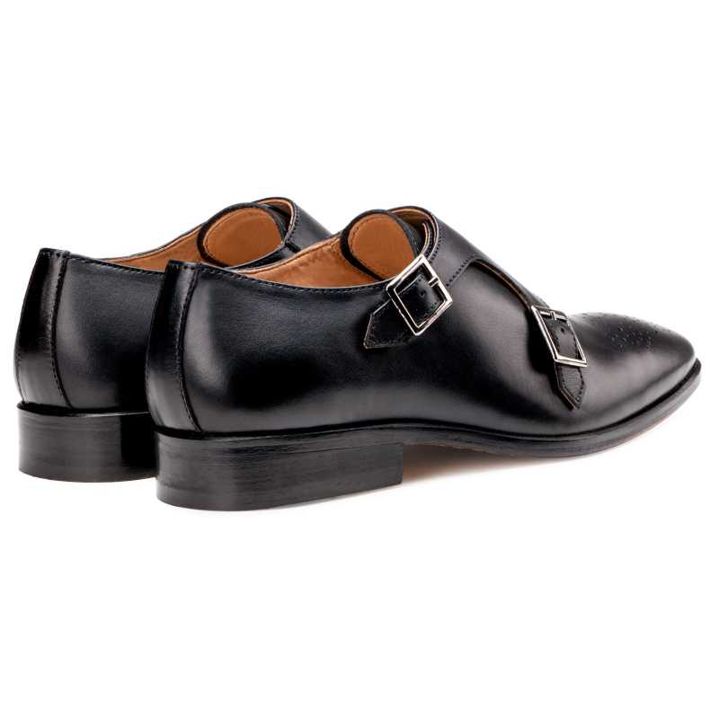 The  Lincoln Monk Medallion Loafer In Black