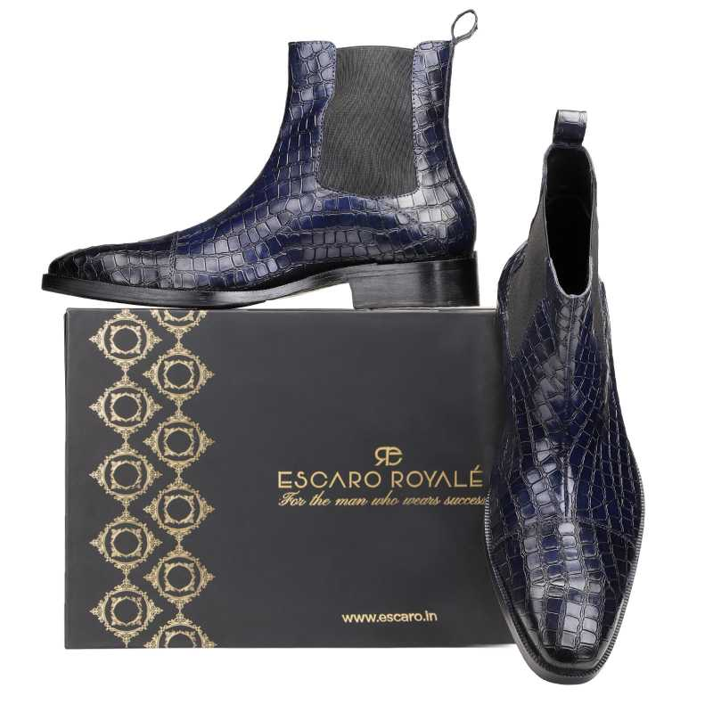 Regal Chelsea Boots in Blue - Escaro Royale