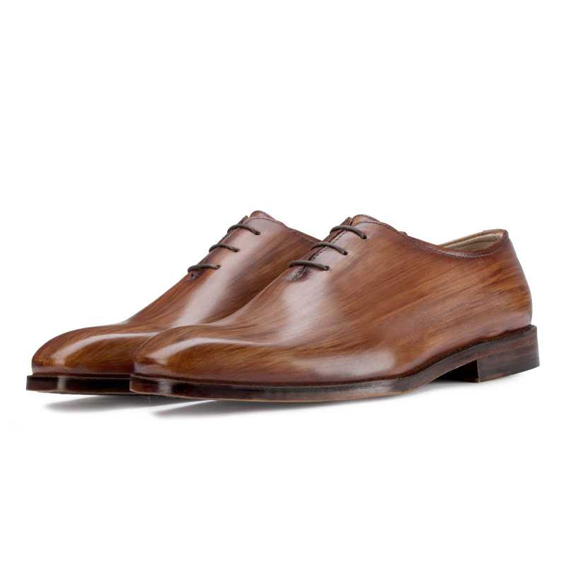 Wooden-Finish Wholecut Oxford