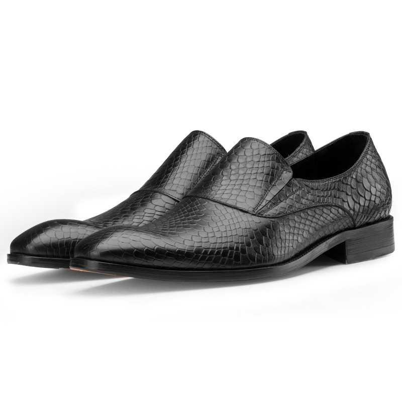 Black Lizard-pattern SlipOns