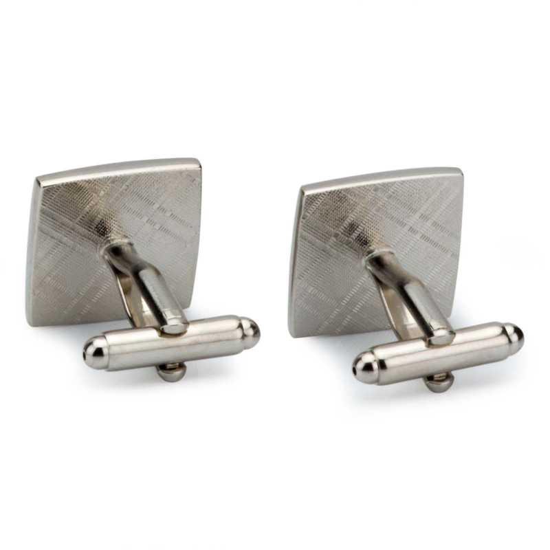 Men's Silver Plated Enamel Engraving Cufflinks