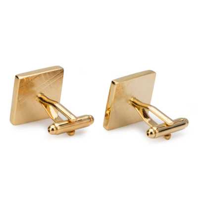Men's Gold Plated Engraving Cufflinks
