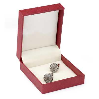 Men's Silver Plated Metal Printing Cufflinks