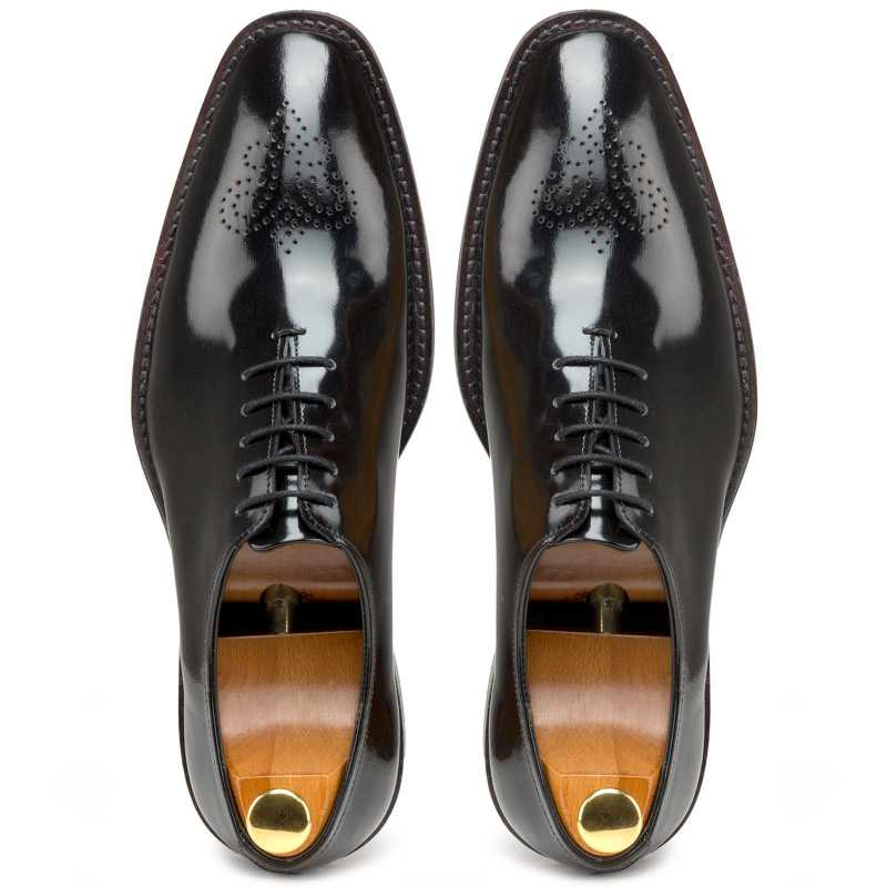 Black Medallion Wholecut Oxford