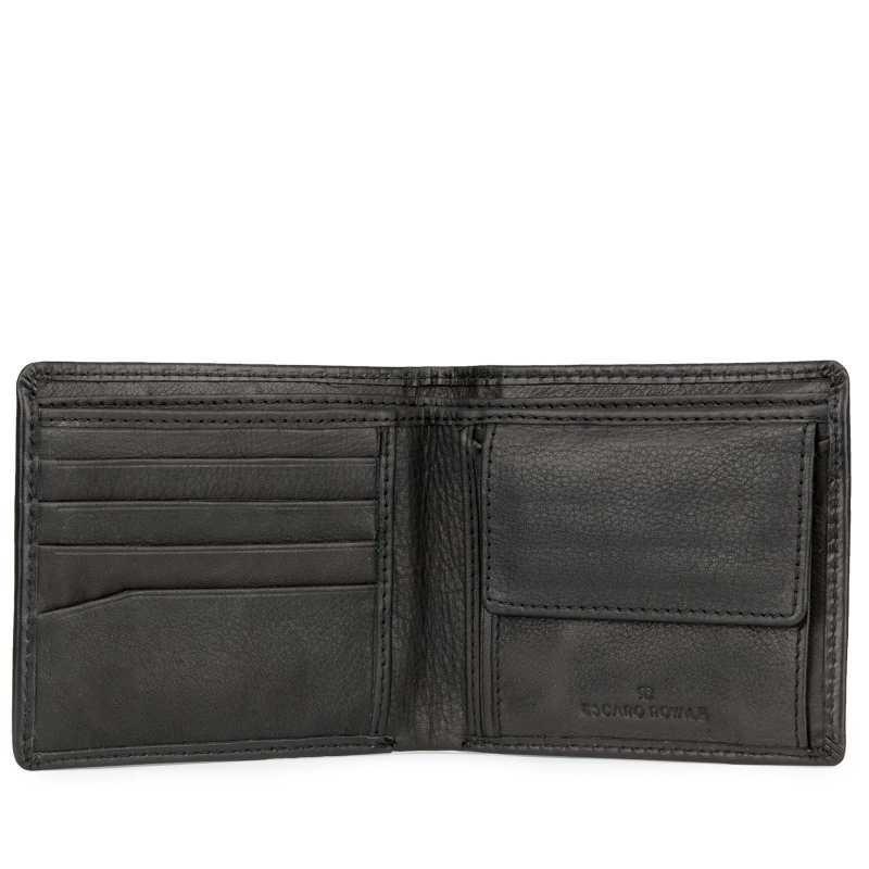 Black Square Bubble Pattern Leather Mens Wallet