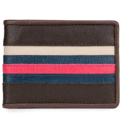 Brown High-Fashion Line Leather Mens Wallet