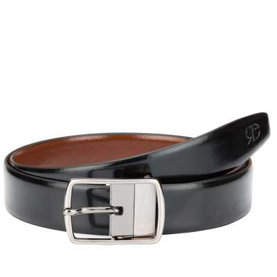 Black and Brown Metro Design Leather Men's Formal Belts