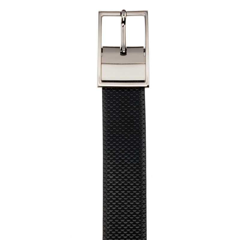 Black and Brown Fish Design Leather Men's Formal Belts