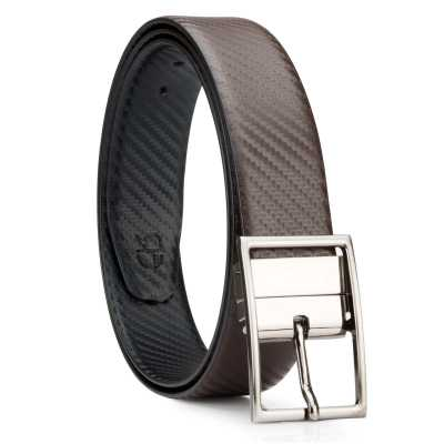 Black and Brown Fibra Design Leather Men's Formal Belts