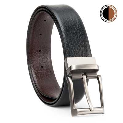 Black and Brown Shurkan Design Leather Men's Formal Belts