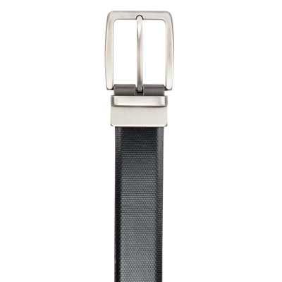 Black and Brown Lizard Design Leather Men's Formal Belts