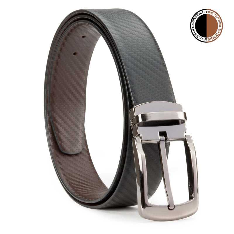 Black and Brown Fibra Design Leather Men