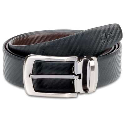Black and Brown Fibra Design Leather Men's Formal Belts