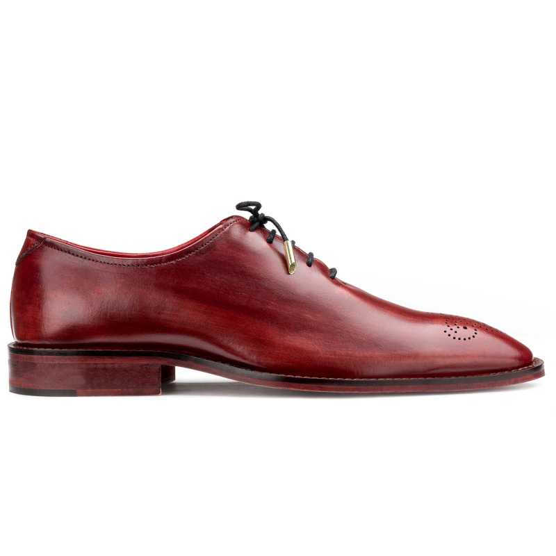 Wine Wholecut Oxford Shoes