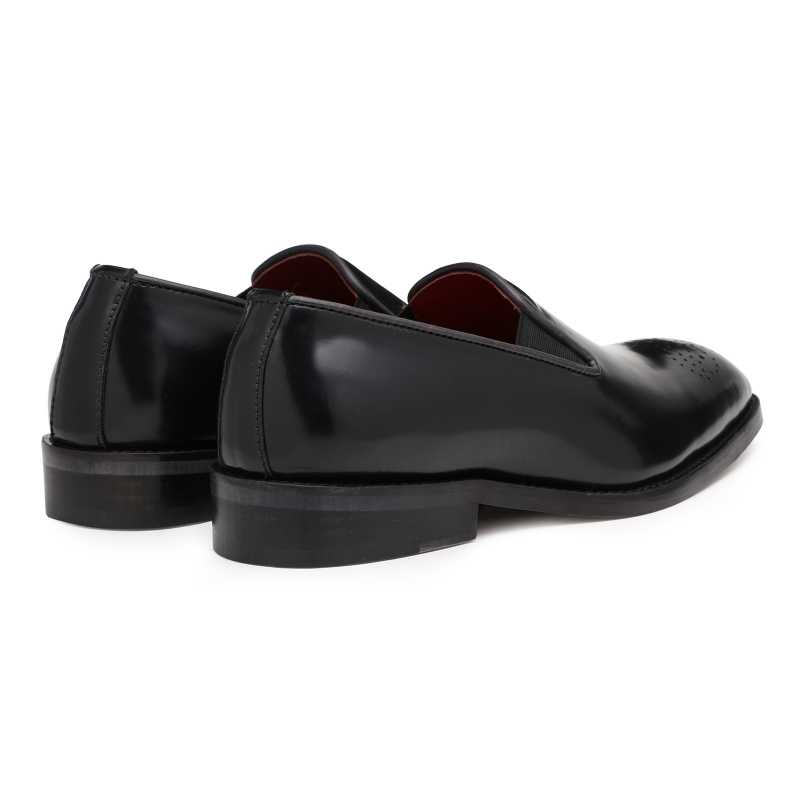 Black Medallion Slip On