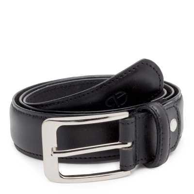 Classic Black Leather Belt