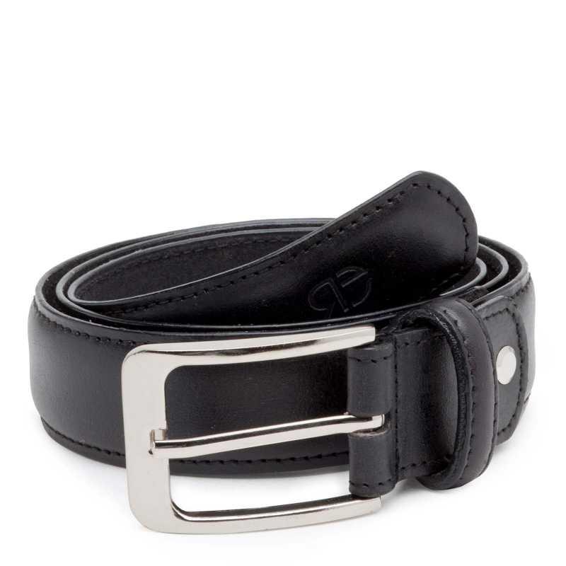 Classic Black Leather Belt - Escaro Royale