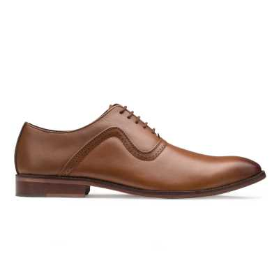 Tan Vintage Punch Oxford