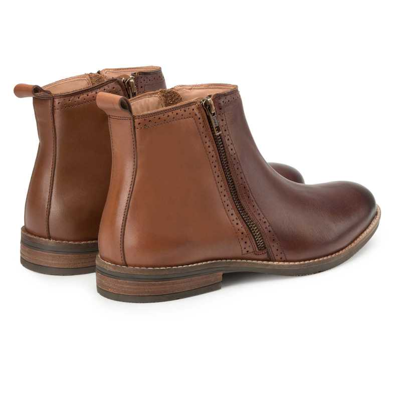 Brown-Tan Chelsea Boots
