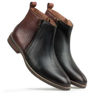 Olive-Brown Chelsea Boots